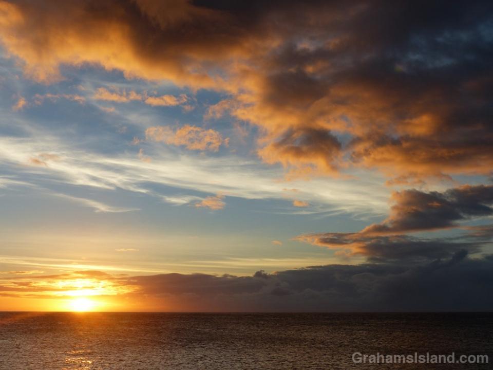 Sunset off Kohala