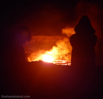 Onlookers at Kilauea