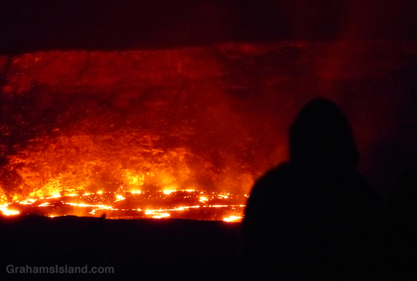 Cult-like gathering at Kilauea volcano.