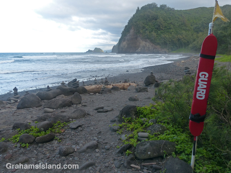 This is the only lifeguard at Pololu beach.