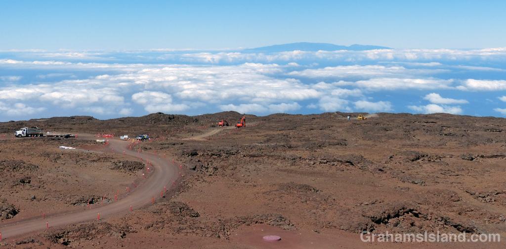 Thirty Meter Telescope site on Mauna Kea