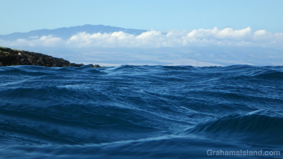 Hualalai volcano on the Big Island seen from the water