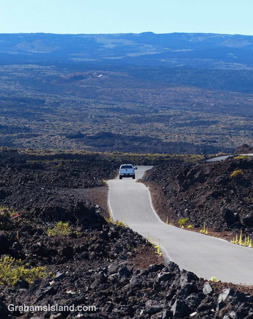 The road to the Mauna Loa Observatory
