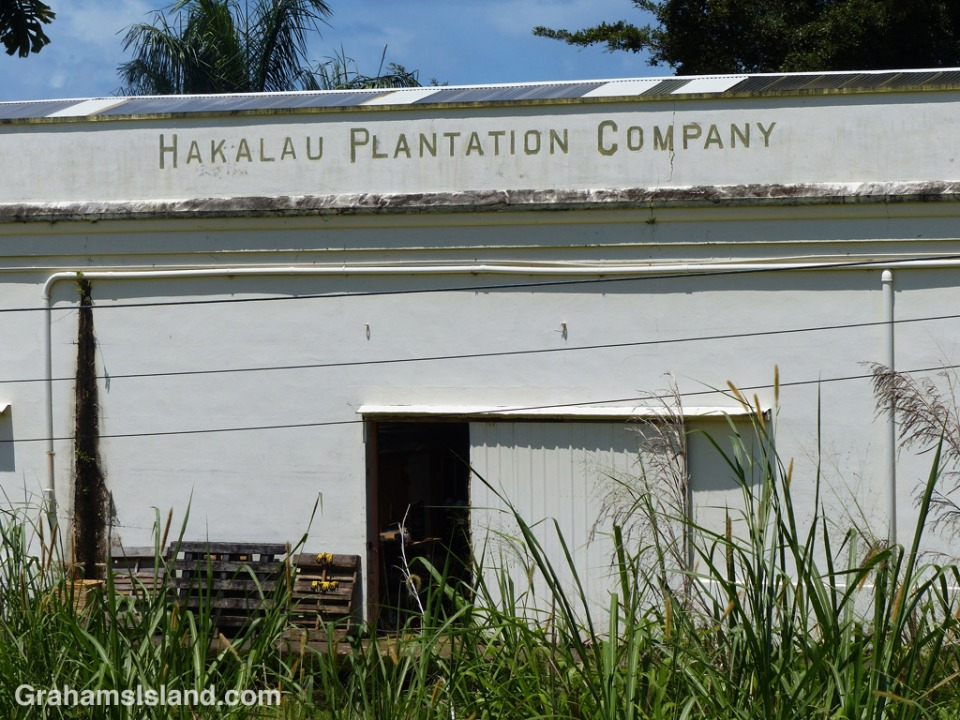One of the remaining warehouses of the old Hakalau Plantation Company.