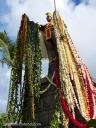King Kamehameha's statue in Kapaau, is draped in leis on Kamehameha Day.