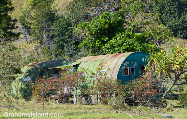 This old quonset hut, at the foot of Pu'u Wa'awa'a, was probably an old ranch building.