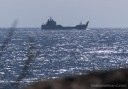 A Navy ship heading to Oahu