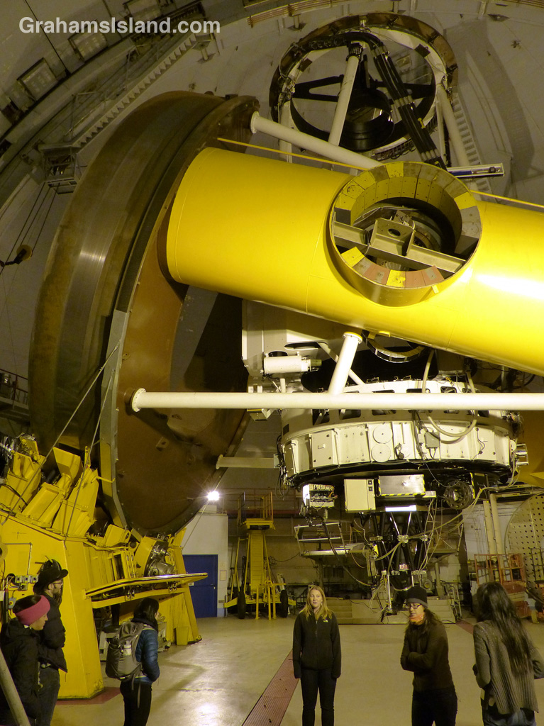 The interior of the Canada-France- Hawaii Telescope