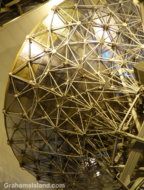 The framework supporting the dish of the James Clerk Maxwell Telescope on Mauna Kea.