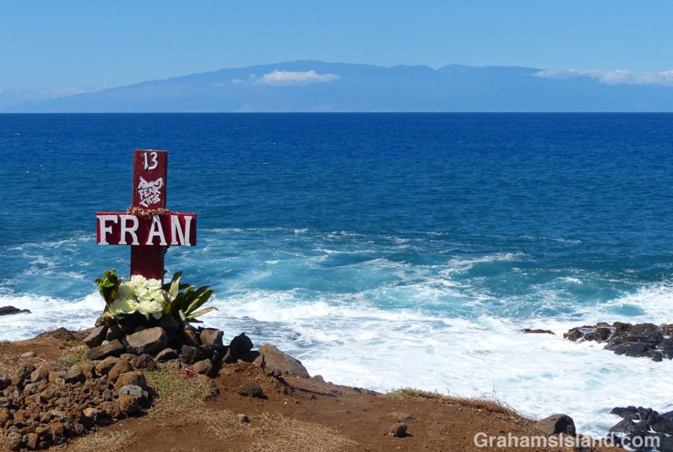 A memorial on the Kohala coast.