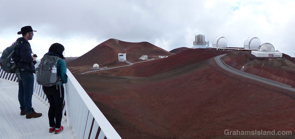 A view from the Canada-France- Hawaii Telescope on Mauna Kea