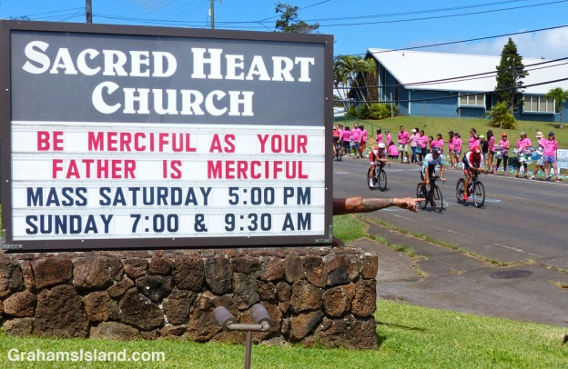 Sign seen during the IRONMAN world championship on the Big Island.