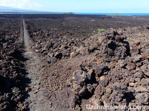 The King's trail south of Waikoloa