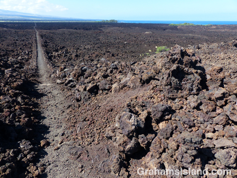 The King's trail south of Waikoloa