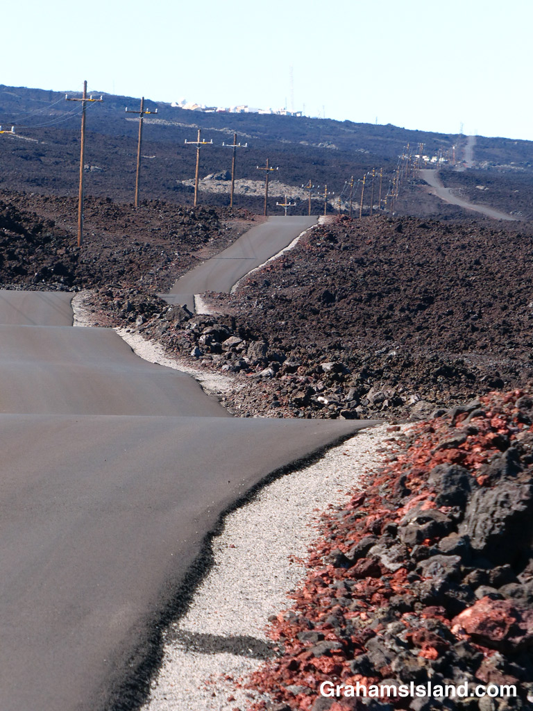 The road leading to Mauna Loa Observatory on the Big Island.