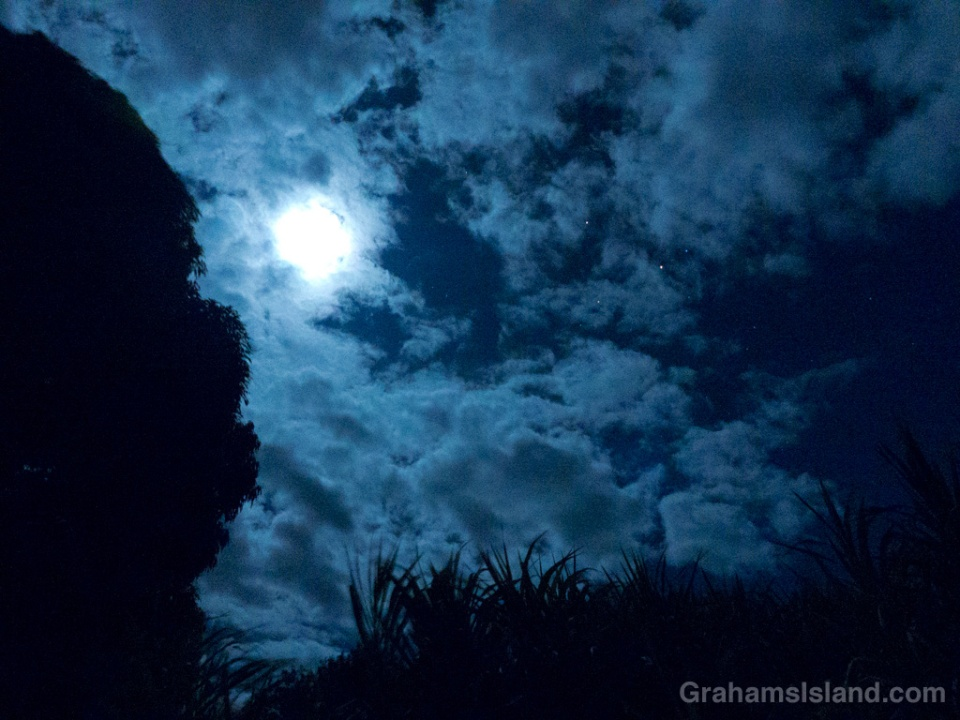 The night sky over the Big Island.