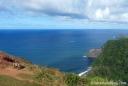 The bench overlooking Honokane Nui Valley on the Big Island.
