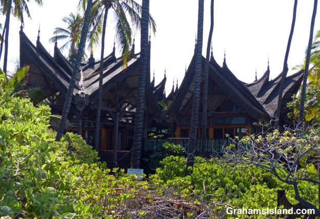 The Bali House at Kiholo Bay on the Big Island of Hawaii.
