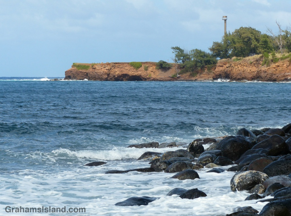 The new Kauhola Point Lighthouse on the north Kohala coast.