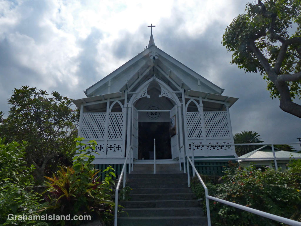 View of the Painted Church at Honaunau.