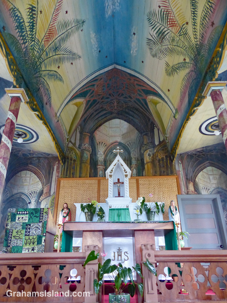 Interior of the Painted Church at Honaunau.