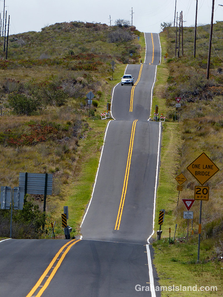 Old Saddle Road on the Big Island of Hawaii.