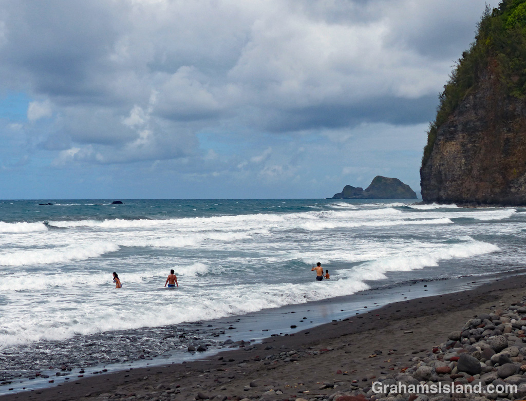 Pololu beach looks like an inviting place, but is a dangerous place for a swim.