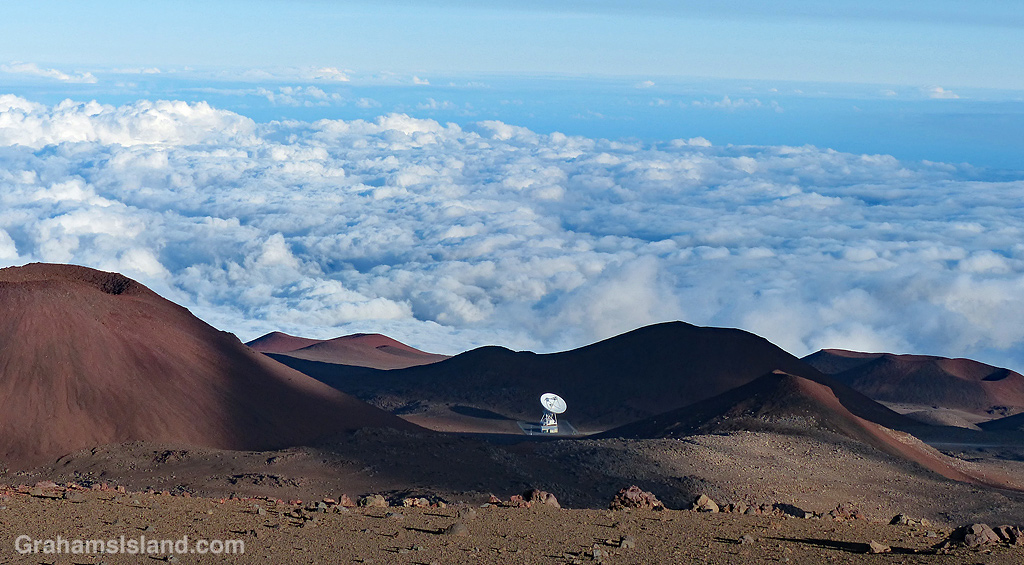 The very long baseline array on Mauna Kea is one of the ten radio telescopes that make up the Very Long Baseline Array (VLBA)