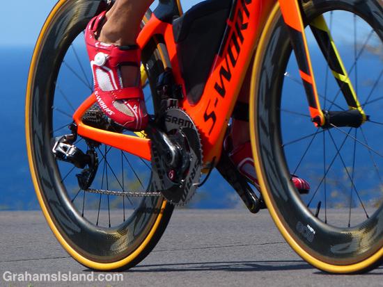 Bike pedals at 2017 Ironman World Championship.