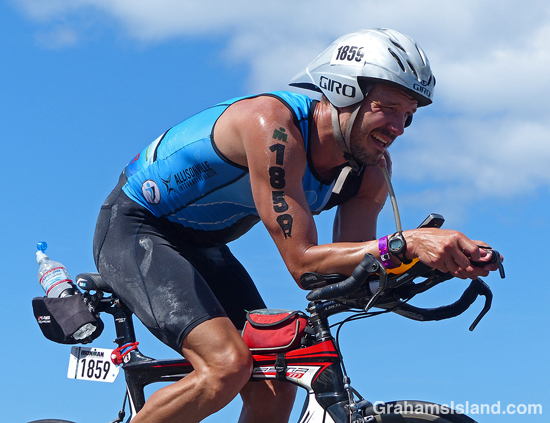 Bentley Walker competes in the 2017 Ironman World Championship.