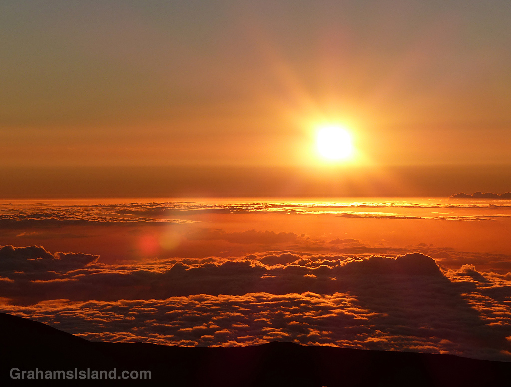 Sunset seen from Mauna Kea.