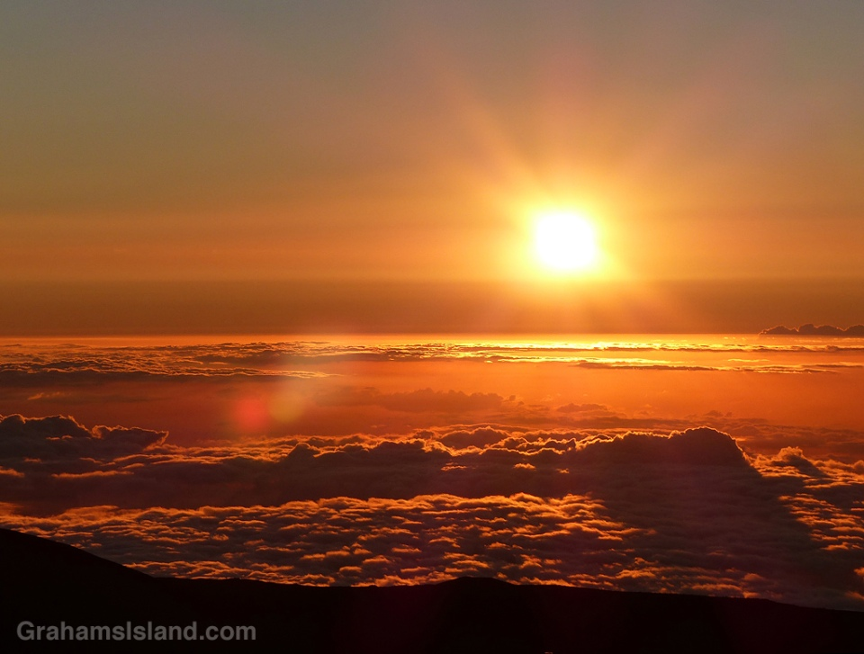 Sunset seen from Mauna Kea.