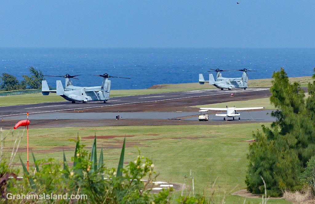 V-22 Ospreys at Upolu