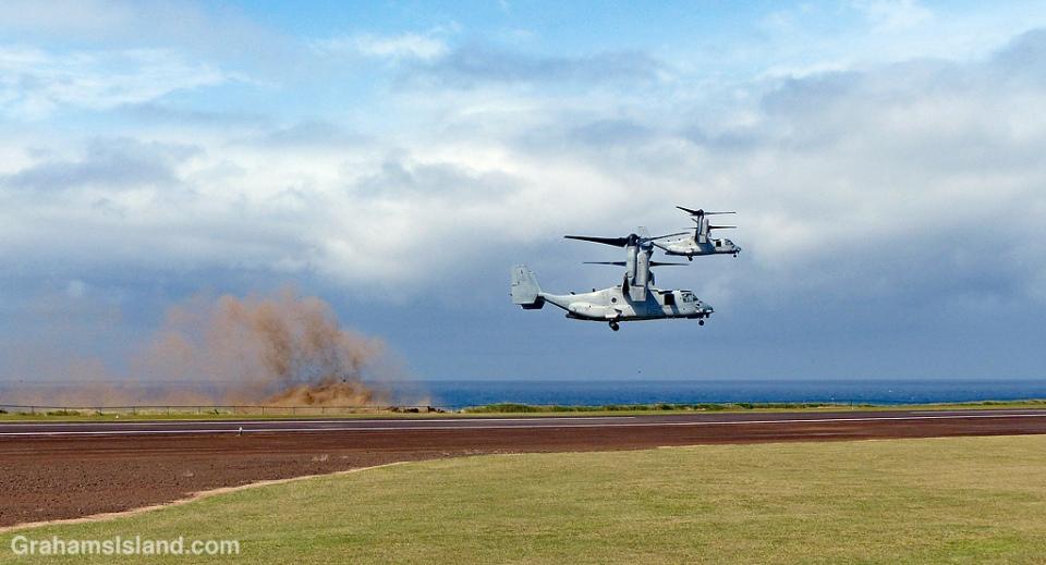 V-22 Ospreys landing at Upolu