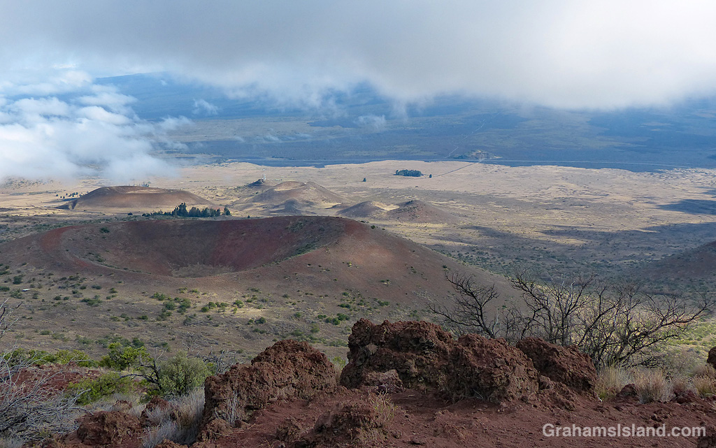 View from Sunset Hill on Mauna Kea