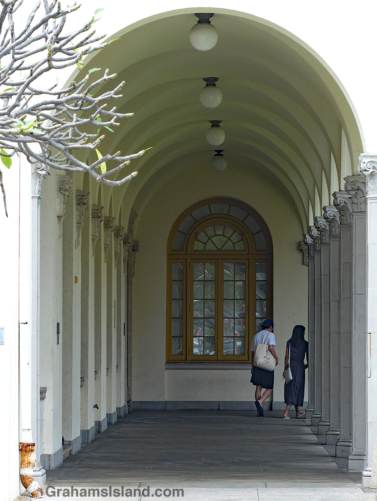 Couple at Post Office Building Honolulu