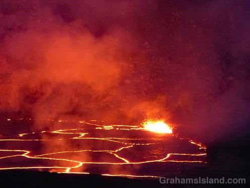 Kilauea lava lake lines