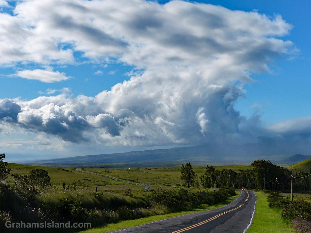Storm cloud over Kohala Mountains