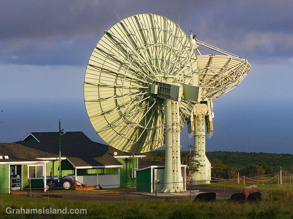 South Point Space Tracking Station dishes