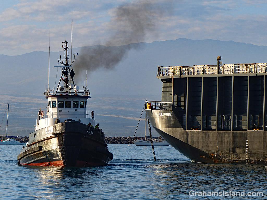 Tug and Barge in Kawaihae Harbor