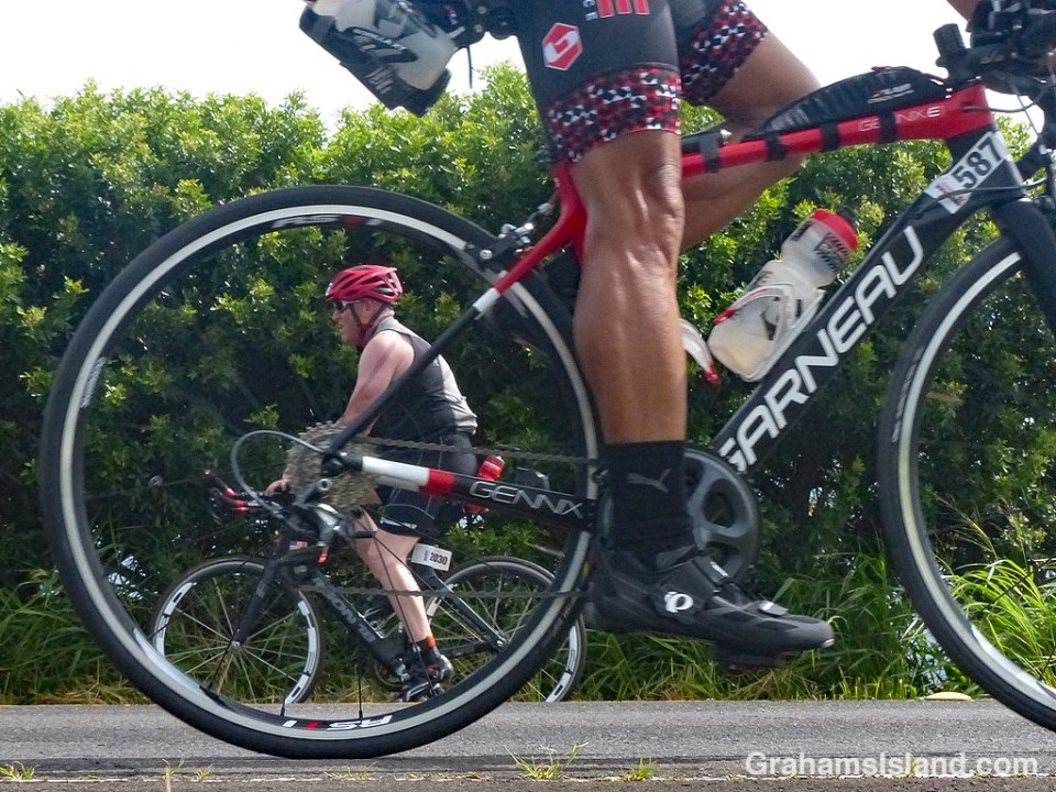 Going the other way at Ironman 70.3