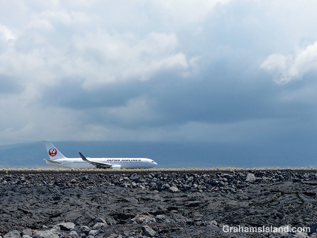 Japan Airlines plane takeoff