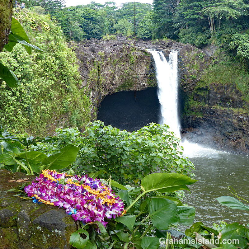 Rainbow Falls and offering