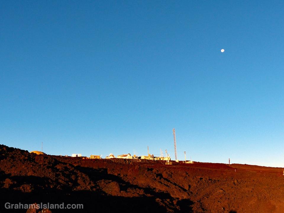 Mauna Loa Observatory and moon