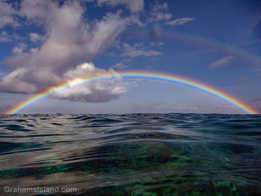 Rainbow on the water