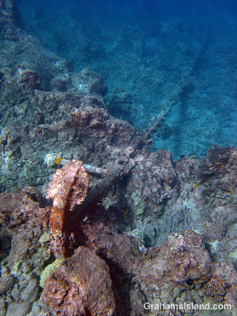 Sunken Anchor and chain