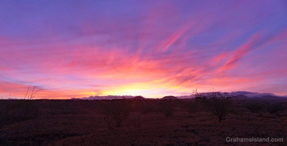 Sunrise over Kohala Mountains