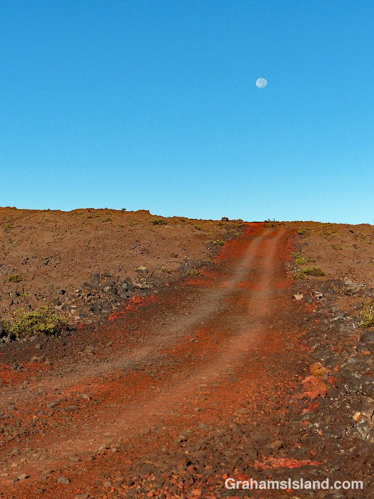 HI-SEAS access road on Mauna Loa
