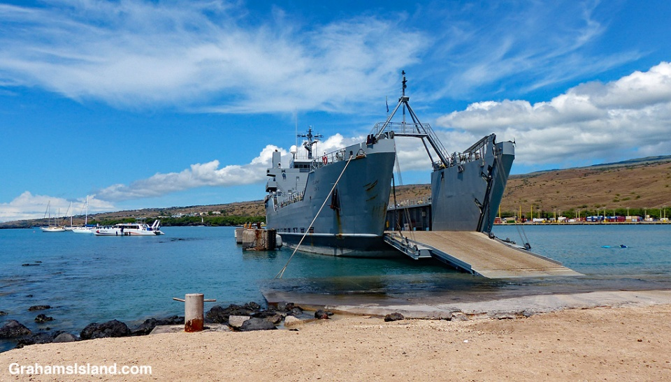 Army LSV in Kawaihae Harbor