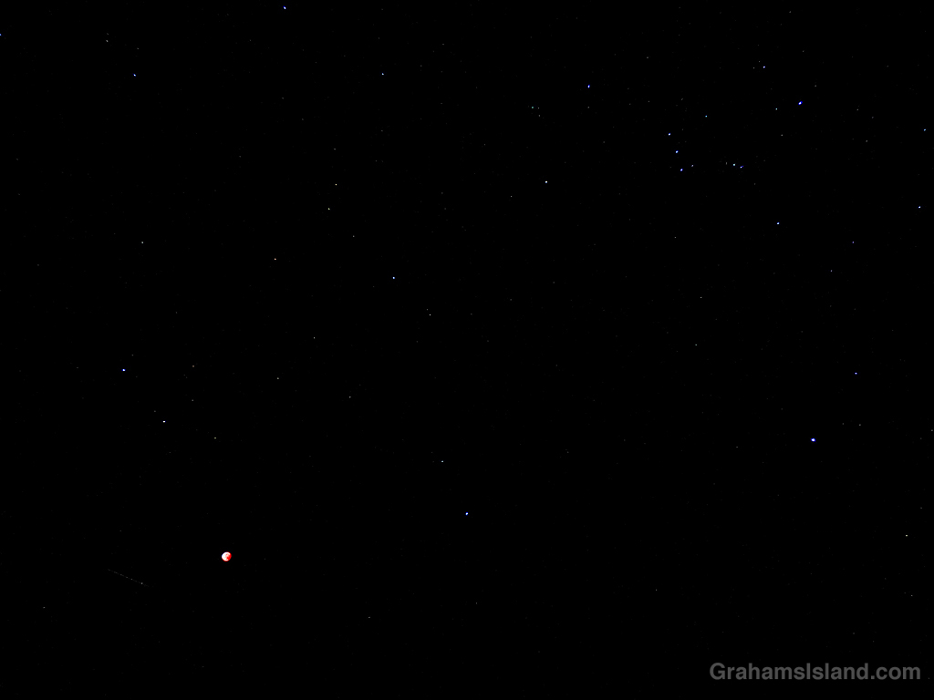 blood moon and orion
